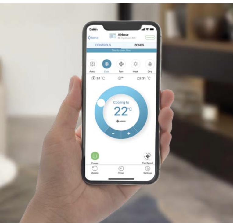 daikin airbase mobile phone air conditioning app
