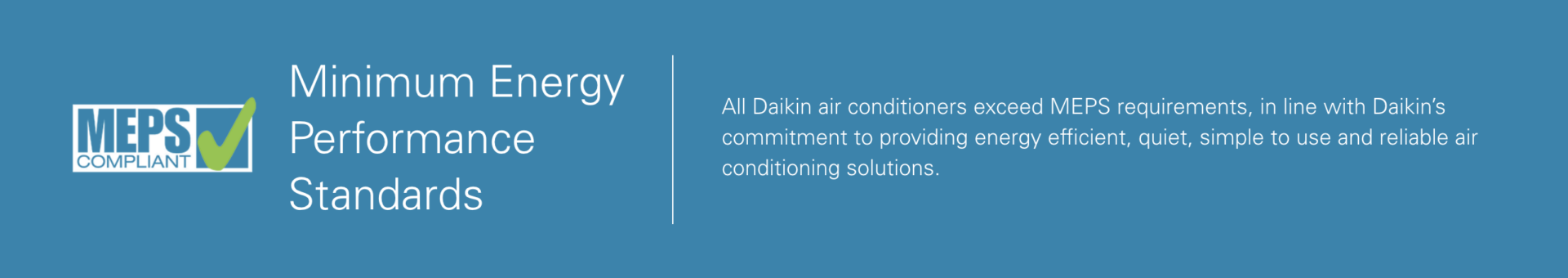 daikin MEPS energy efficient